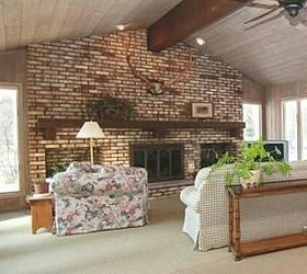 Updating a large brick fireplace