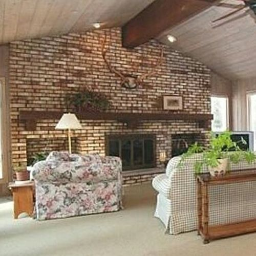I Need Advice For Updating A Very Large Brick Fireplace