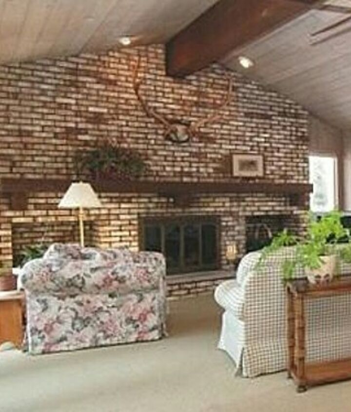 I Need Advice For Updating A Very Large Brick Fireplace Wall Hometalk