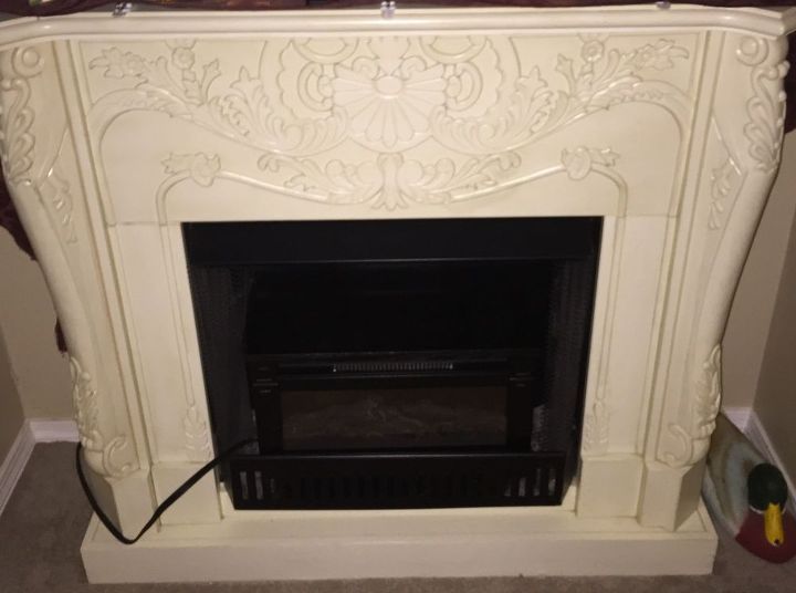 q need to paint a faux fireplace white, fireplace makeovers, fireplaces mantels, painting wood furniture