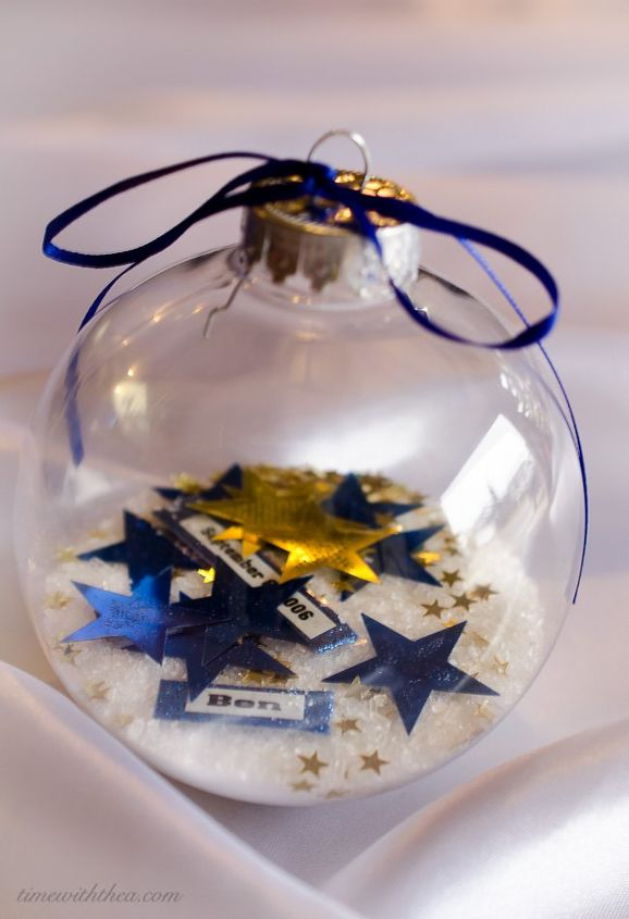 Christmas Ornament DIY Gift That Is A Gorgeous Personalized Keepsake ...