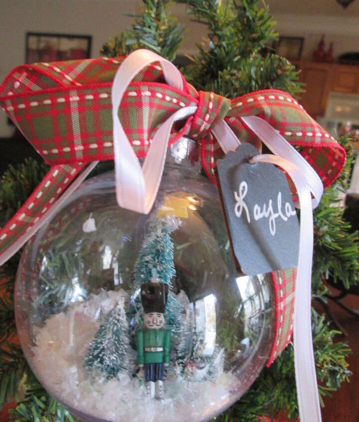 easy snow globe ornament made simple come see, christmas decorations, crafts, seasonal holiday decor