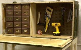 russian rifle storage crate to diy workbench, diy, organizing, repurposing upcycling, storage ideas, tools, woodworking projects