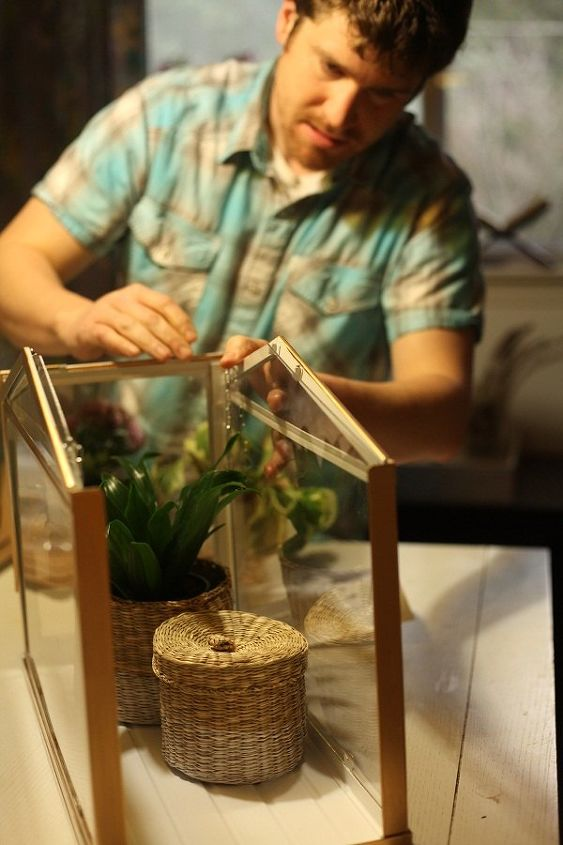 easy diy gift ikea greenhouse hack, container gardening