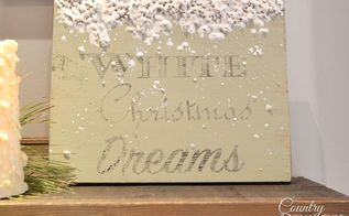 melting snow diy sign, crafts, seasonal holiday decor
