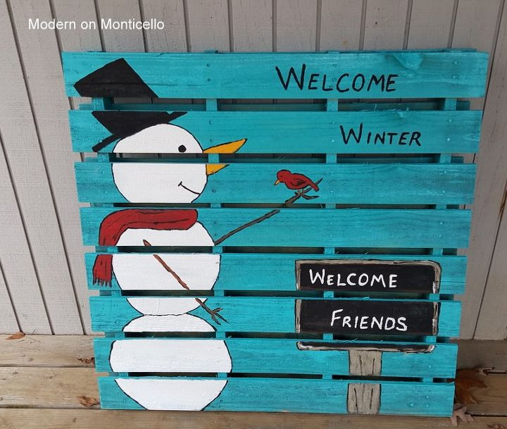 the other side of the pallet project, crafts, pallet, seasonal holiday decor