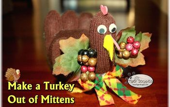 make a turkey out of mittens, crafts, how to, repurposing upcycling, seasonal holiday decor, thanksgiving decorations