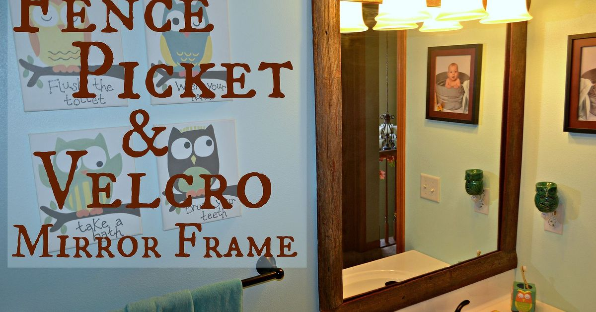 Easy Diy Reclaimed Wood Frame On A Builders Grade Mirror
