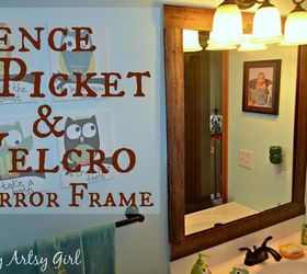 Easy Diy Reclaimed Wood Frame On A Builders Grade Mirror, Bathroom Ideas,  Repurposing Upcycling