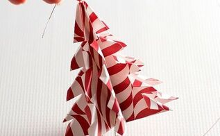 origami tree handmade ornament, christmas decorations, seasonal holiday decor