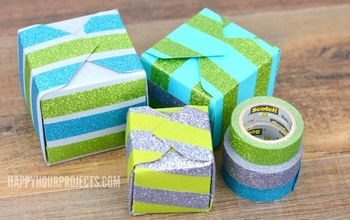 DIY Glittering Gift and Treat Boxes