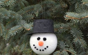 frosty the snowman homemade ornament, christmas decorations, seasonal holiday decor
