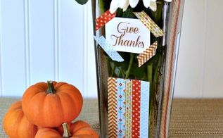 washi tape vase a diy gift for thanksgiving, crafts, decoupage, seasonal holiday decor
