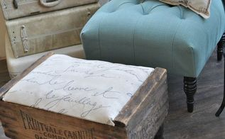 vintage crate diy footstool hdgiftchallenge, diy, painted furniture, repurposing upcycling