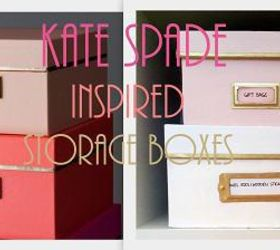 Superbe Diy Kate Spade Inspired Storage Boxes, Craft Rooms, Crafts, Diy, Home Decor