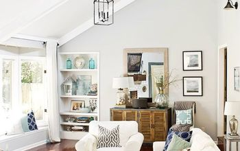 Transforming a Dark, Outdated Living Room Into a Light and Airy Space.