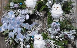 how can you dress up a basic evergreen wreath, christmas decorations, crafts, seasonal holiday decor, wreaths
