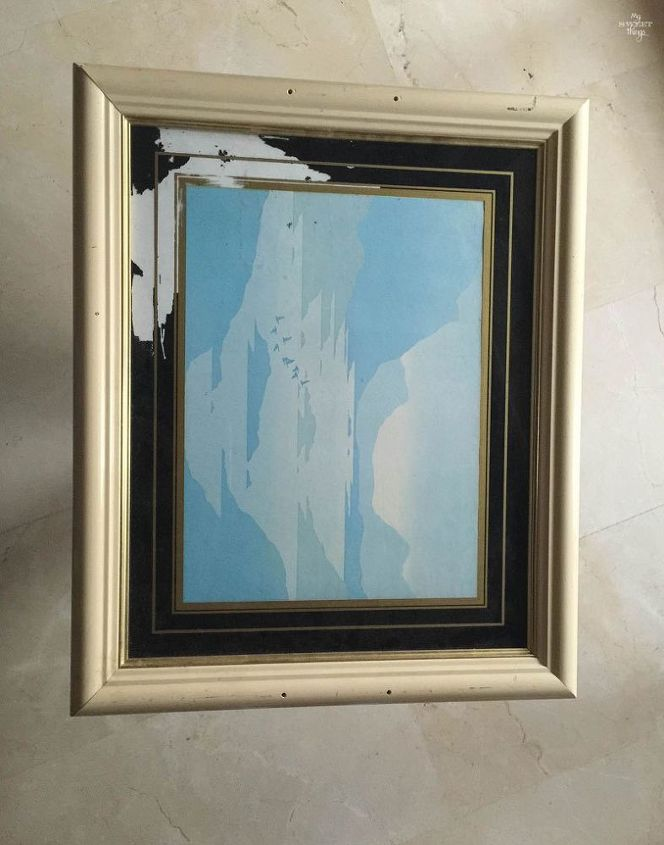 how to repurpose a picture into a tray, crafts, how to, repurposing upcycling, wall decor
