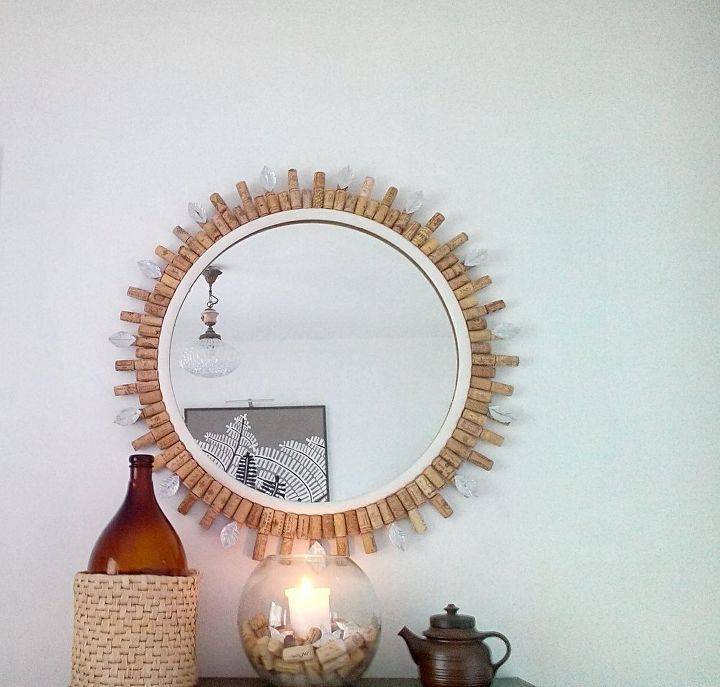 diy wine cork mirror frame crafts home decor repurposing upcycling wall decor - Decorate Mirror Frame