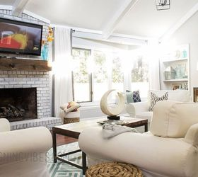 Transforming A Dark Outdated Living Room Into A Light And Airy Space,  Fireplaces Mantels, Part 40