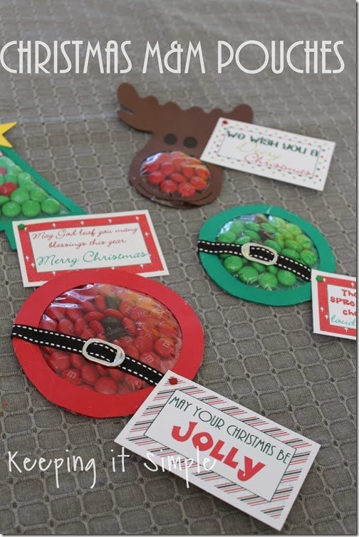 easy christmas candy pouches christmas decorations crafts how to seasonal holiday decor - Easy Christmas Candy