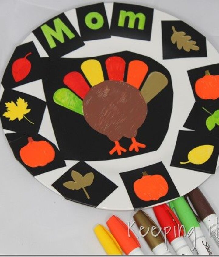diy personalized thanksgiving dinner plates, crafts, how to, seasonal holiday decor, thanksgiving decorations