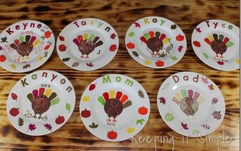DIY Personalized Thanksgiving Dinner Plates #Thanksgiving
