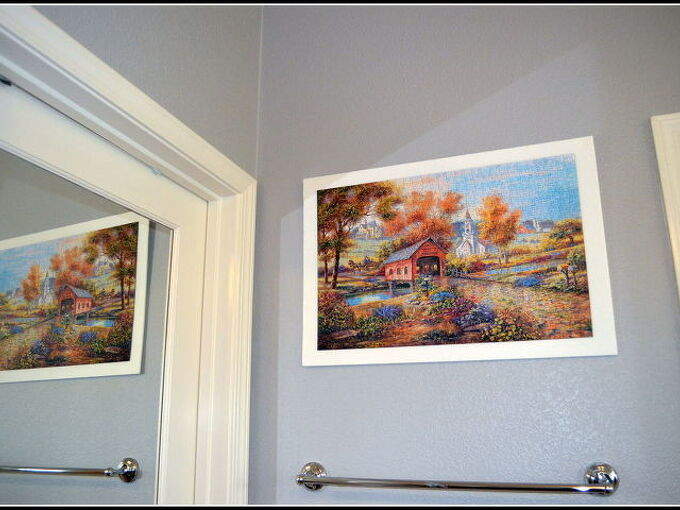 jigsaw puzzle as wall art, crafts, wall decor