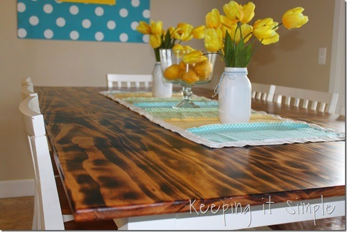 diy dining table with burned wood finish, dining room ideas, diy, how to, woodworking projects