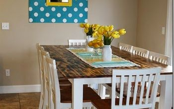 DIY Dining Table With Burned Wood Finish