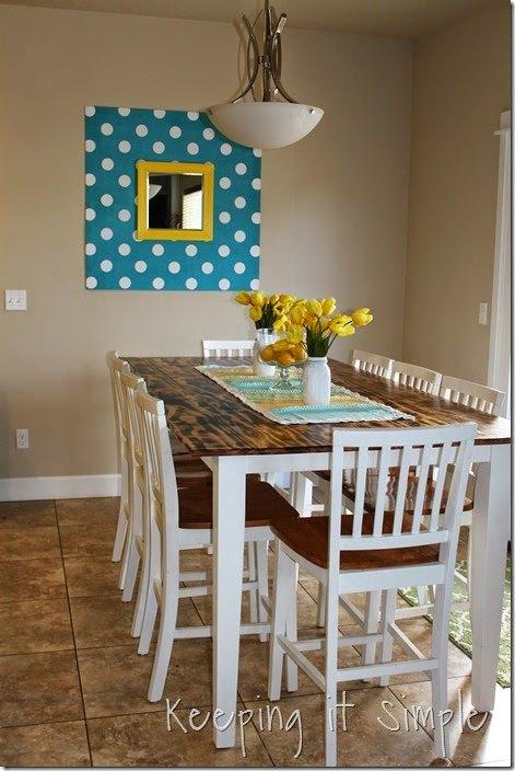 Diy Dining Table With Burned Wood Finish Diy Hometalk