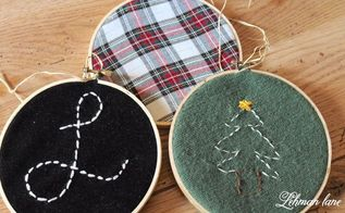 diy embroidery hoop christmas ornament, christmas decorations, crafts, seasonal holiday decor