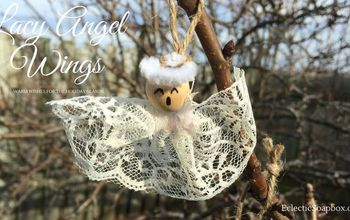 Lacy Angel Wings Ornament #ChristmasOrnamentHop