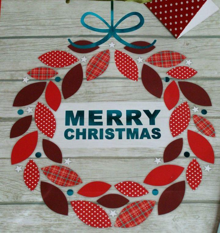 Dollar Store Christmas Lights Safe: Dollar Store Christmas Gift Bag Wall Art