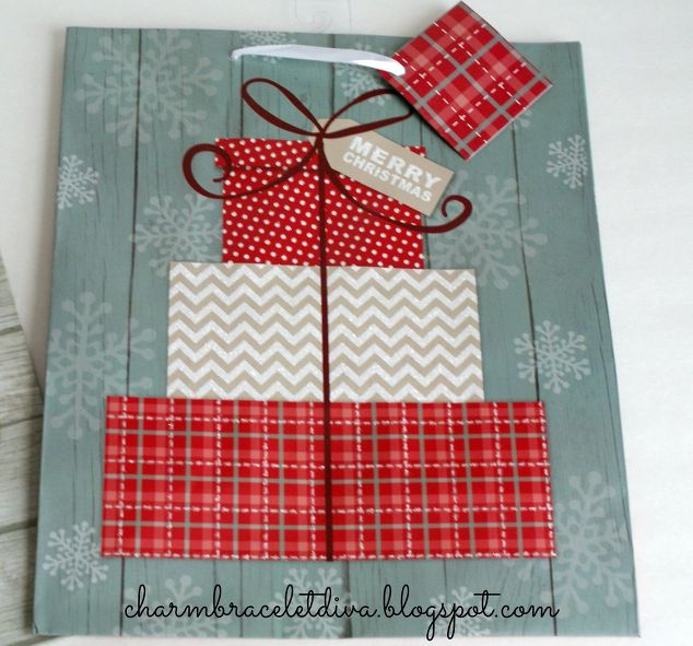 Wall Decoration Gifts : Dollar store christmas gift bag wall art hometalk