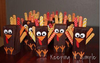 Thanksgiving Place Settings- 2x2 Wood Turkey & Pumpkin #Thanksgivning