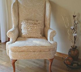 A Wingback Chair Makeover, Painted Furniture, Reupholster