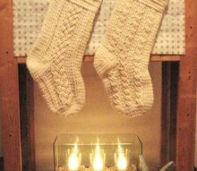 december series aran stockings crochet pattern, christmas decorations, crafts, seasonal holiday decor