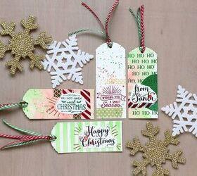Handmade gift tags for christmas
