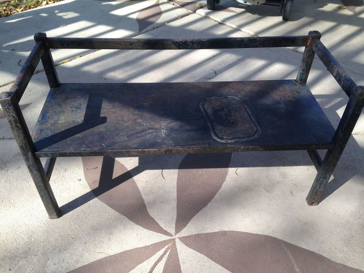 whimsical garden bench, outdoor furniture, painted furniture