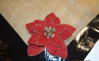 what to do with left over burlap duct tape a few burlap flowers, crafts, how to, reupholster