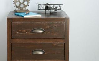 diy 3 drawer nightstand restoration hardware knockoff, diy, how to, storage ideas, woodworking projects
