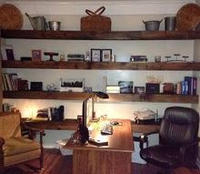 changes in the home office, diy, home office, painting, shelving ideas, woodworking projects