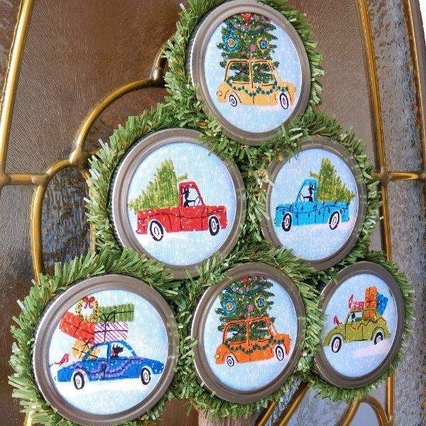 s these 8 trees on cars are the most christmassy thing you ll see today, crafts, Make Fabric Ornaments