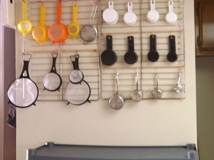 repurposed oven racks, kitchen design, organizing, repurposing upcycling, storage ideas