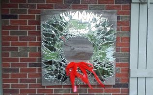 mirrored wreath, christmas decorations, crafts, seasonal holiday decor, wreaths