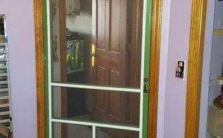 re purposing a vintage screen door, craft rooms, doors, repurposing upcycling