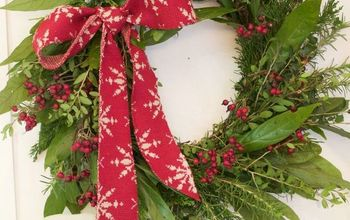 how to make an evergreen christmas wreath or garland for free christmas decorations crafts - An Evergreen Christmas