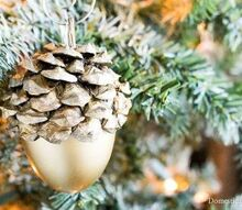 faux acorn christmas ornaments, christmas decorations, crafts, seasonal holiday decor