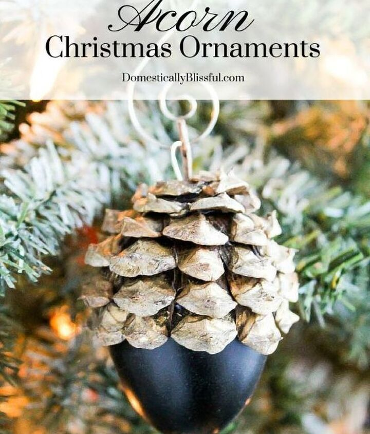 faux acorn christmas ornaments, christmas decorations, crafts, seasonal holiday decor